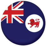 Tasmania State Flag 25mm Pin Button Badge